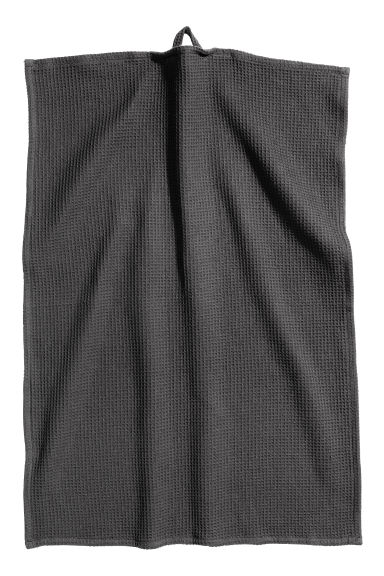 Waffled Tea Towel - Anthracite grey - Home All | H&M CA 1