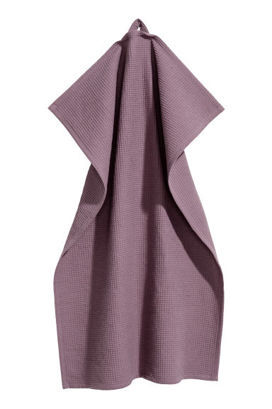 Waffled tea towel - Purple - Home All | H&M CN 1