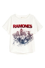 T-shirt con stampa - Bianco/Ramones -  | H&M CH 2
