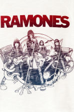 T-shirt con stampa - Bianco/Ramones -  | H&M CH 3