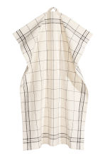Linen-blend tea towel - Natural white/Checked - Home All | H&M IE 1