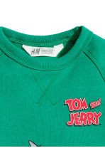 Camisola sweat com estampado - Branco/Tom e Jerry -  | H&M PT 4