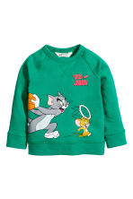 Camisola sweat com estampado - Branco/Tom e Jerry -  | H&M PT 2