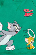 Camisola sweat com estampado - Branco/Tom e Jerry -  | H&M PT 3