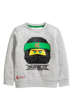 Printed sweatshirt - Light grey marl/Ninjago -  | H&M CN 2