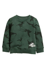 圖案運動衫 - Dark green/Jurassic World - Kids | H&M 2