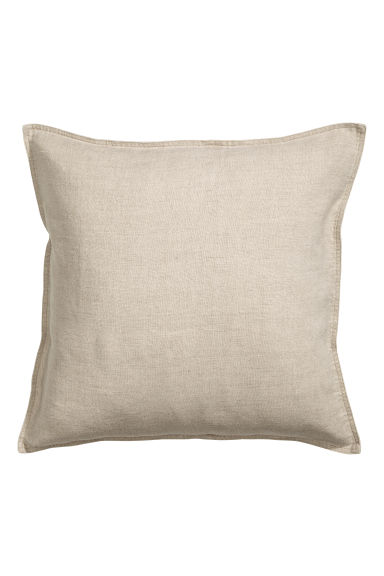 Washed linen cushion cover - Linen beige - Home All | H&M CA 1