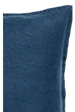 Washed linen cushion cover - Dark blue - Home All | H&M CN 2