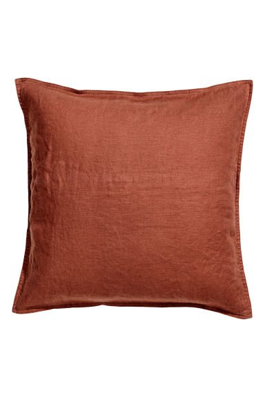Washed linen cushion cover - Rust - Home All | H&M IE 1