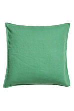 Washed linen cushion cover - Green - Home All | H&M CN 1