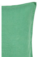 Washed linen cushion cover - Green - Home All | H&M CN 2