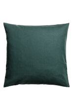 Cotton canvas cushion cover - Dark green - Home All | H&M CN 1