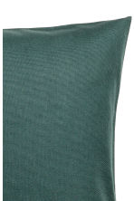Cotton canvas cushion cover - Dark green - Home All | H&M CN 2