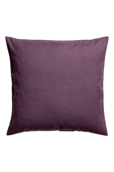 Cotton canvas cushion cover - Purple - Home All | H&M CN