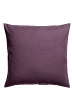 Cotton canvas cushion cover - Purple - Home All | H&M IE 1