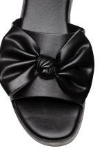 Platform bow-front mules - Black - Ladies | H&M 3
