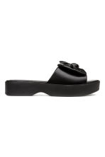 Platform bow-front mules - Black - Ladies | H&M 1