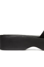 Platform bow-front mules - Black - Ladies | H&M 4