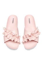 Frilled platform mules - Light pink - Ladies | H&M 2