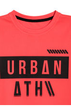 Short-sleeved sports top - Coral red -  | H&M CA 3