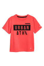 Short-sleeved sports top - Coral red - Kids | H&M 2