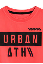 Short-sleeved sports top - Coral red - Kids | H&M 3