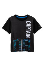 Short-sleeved sports top - Black - Kids | H&M 2