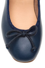 Leather ballet pumps - Dark blue - Kids | H&M CN 5