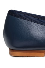 Leather ballet pumps - Dark blue - Kids | H&M CN 4
