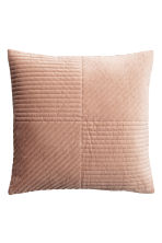 Quilted velvet cushion cover - Light camel - Home All | H&M CN 1