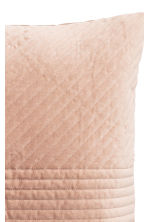 Quilted velvet cushion cover - Light camel - Home All | H&M CN 2