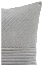 Housse de coussin en velours - Gris - Home All | H&M FR 2