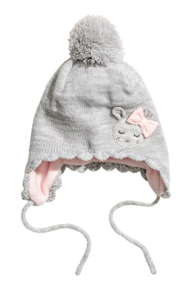 Knitted hat - Light grey - Kids | H&M CN 1