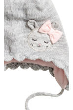 Knitted hat - Light grey - Kids | H&M CN 2