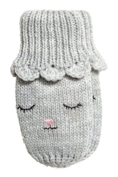 Glittery Mittens - Light gray -  | H&M CA