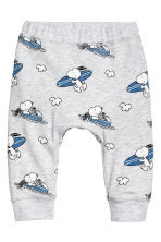 Patterned jersey trousers - Light grey/Snoopy - Kids | H&M 1