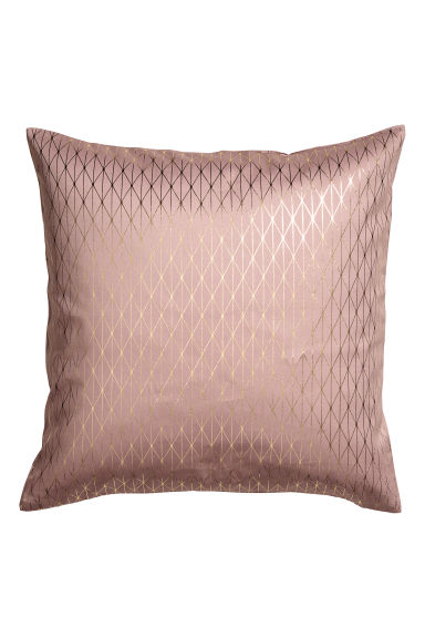 Patterned cushion cover - 暗粉红 - Home All | H&M CN 1