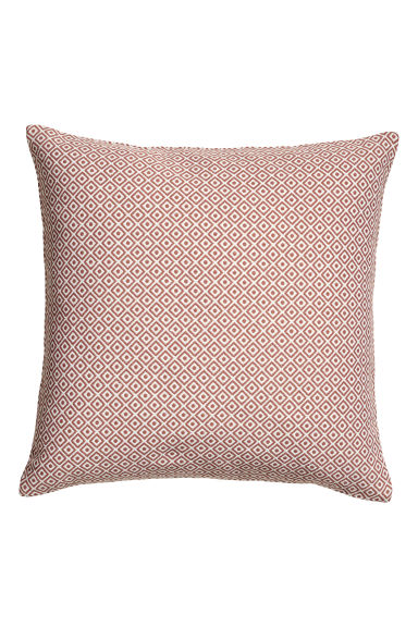 Jacquard-weave cushion cover - Dusky pink -  | H&M GB