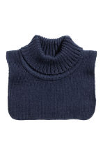 Polo-neck collar - Dark blue -  | H&M CN 1