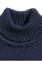 Polo-neck collar - Dark blue -  | H&M CN 2