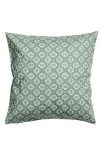 Patterned cushion cover - Moss green - Home All | H&M CA 2