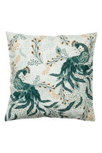 Slub-weave cushion cover - Light green - Home All | H&M CN 1