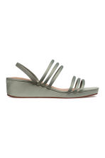 Wedge-heel sandals - Dusky green - Ladies | H&M CN 2
