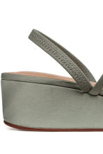 Wedge-heel sandals - Dusky green - Ladies | H&M CN 5