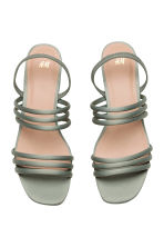 Wedge-heel sandals - Dusky green - Ladies | H&M CN 3