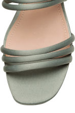Wedge-heel sandals - Dusky green - Ladies | H&M CN 4