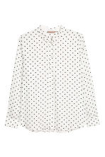 H&M+ Long-sleeved shirt - White/Spotted - Ladies | H&M 2