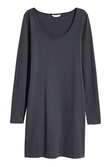 Short jersey dress - Dark grey - Ladies | H&M 1