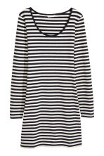 Short jersey dress - Dark blue/Striped - Ladies | H&M CN 1