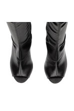 Satin thigh-high boots - Black - Ladies | H&M 2